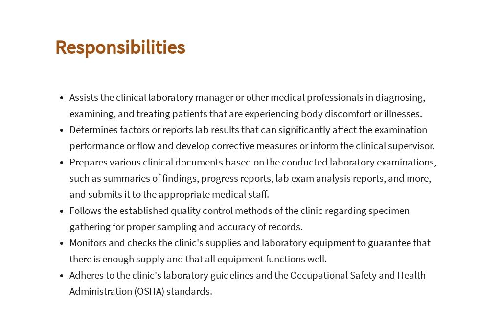 Free Clinical Laboratory Technician Job Description Template 3.jpe
