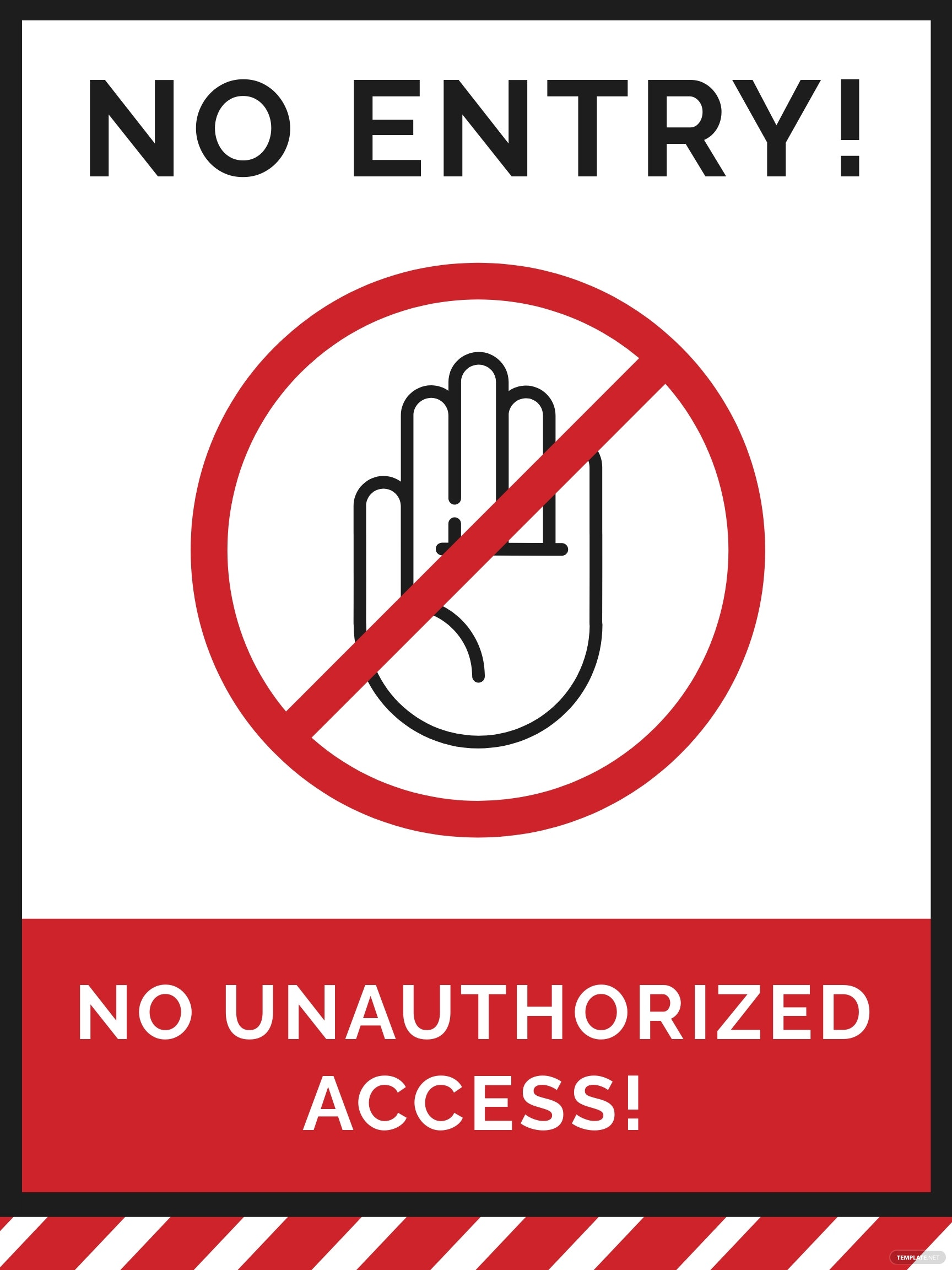 No Unauthorized Access Sign Template