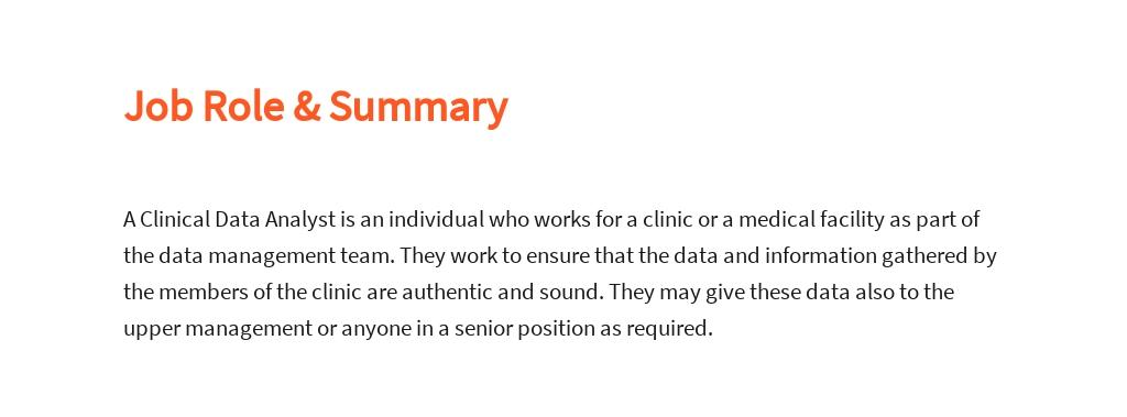Free Clinical Data Analyst Job Description Template 2.jpe