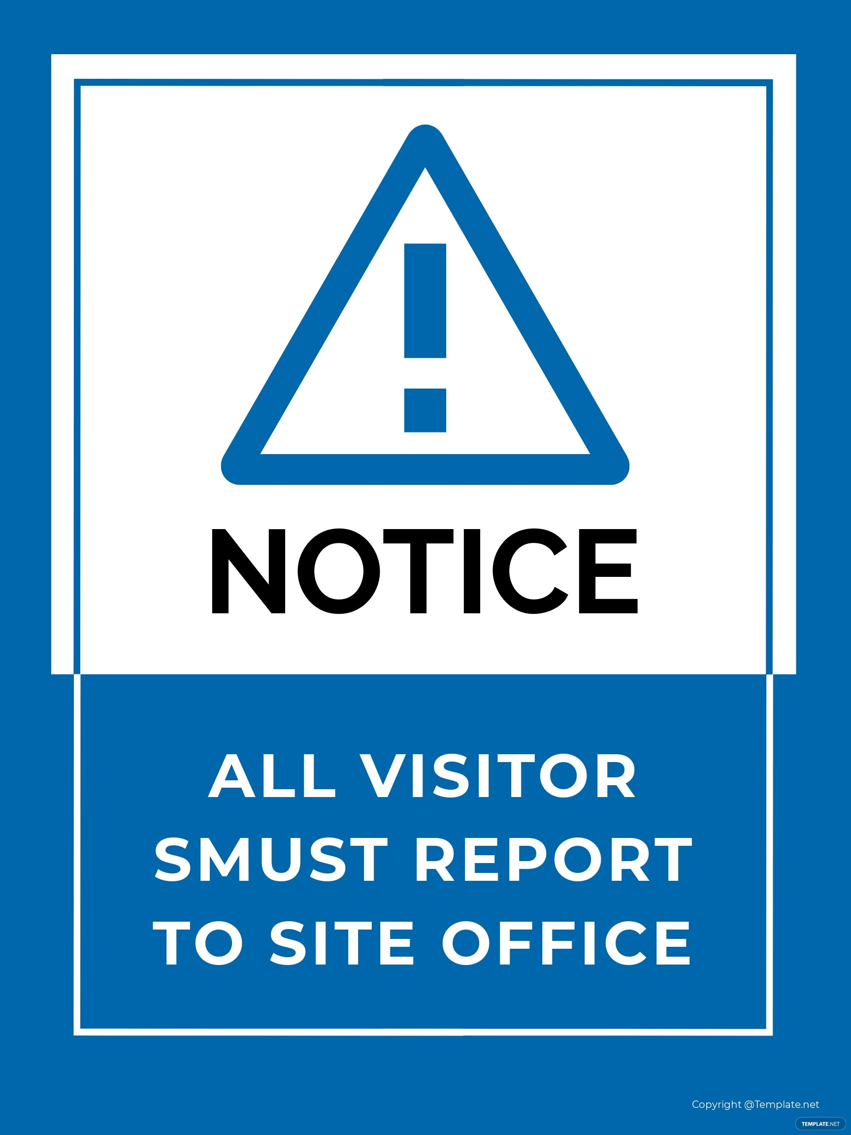 Site Office Sign Template