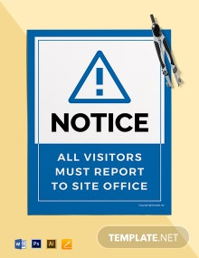 Free Site Office Sign Template