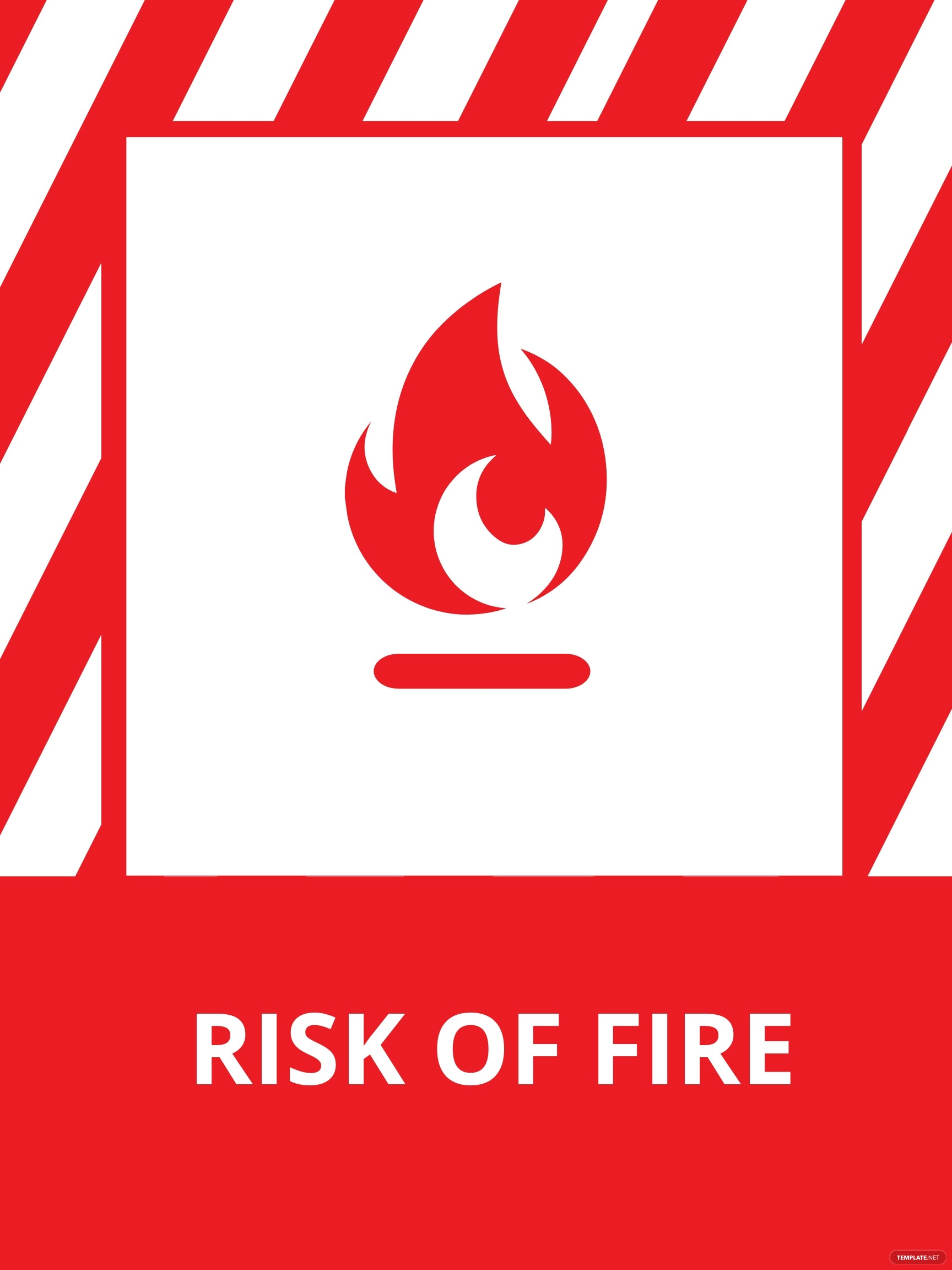 Fire Safety Sign Template