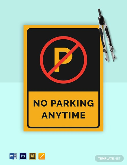 Free No Parking Sign Template
