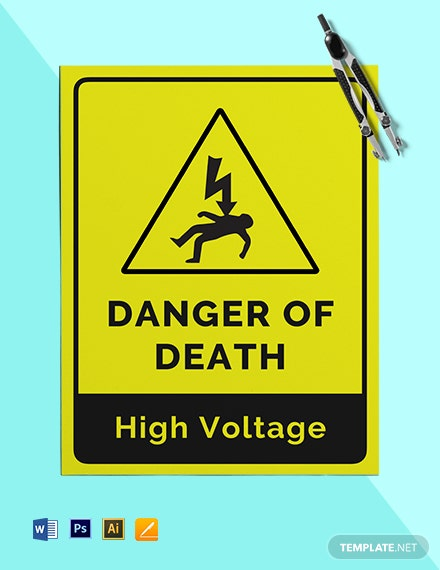 Danger of Death Sign Template