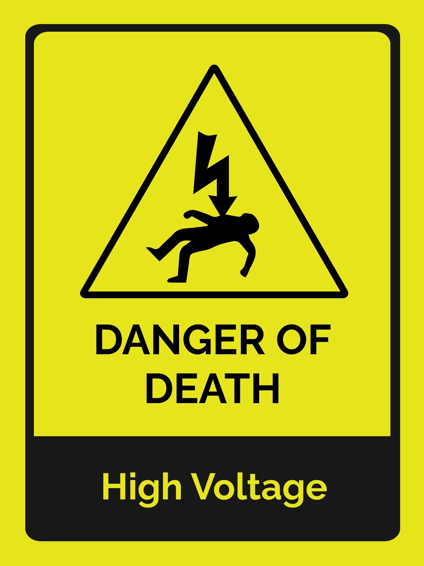 Danger of Death Sign Template