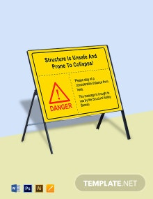 Danger Unsafe Structure Sign Template
