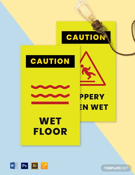 Double Sided Floor Sign Template