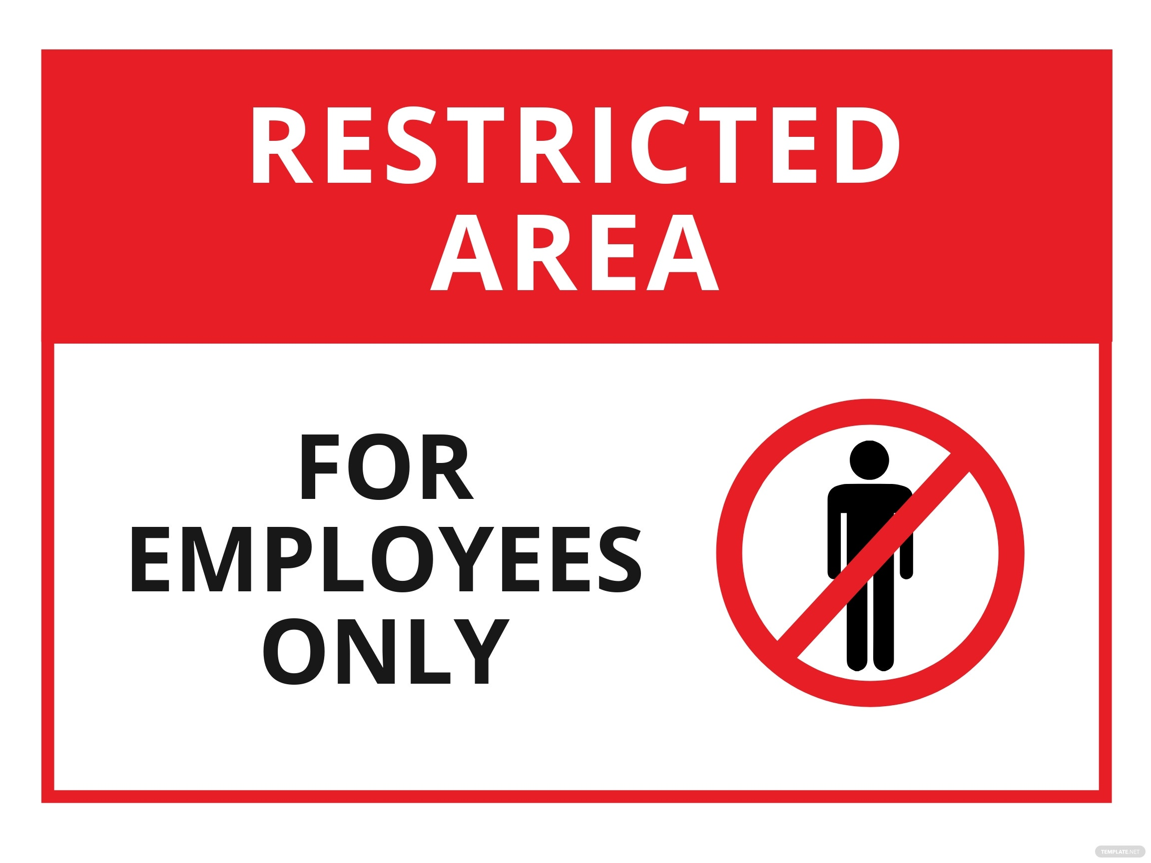 Restricted Area Employees Only Sign Template.jpe