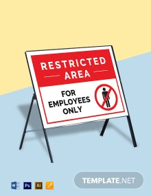 Restricted Area Employees Only Sign Template
