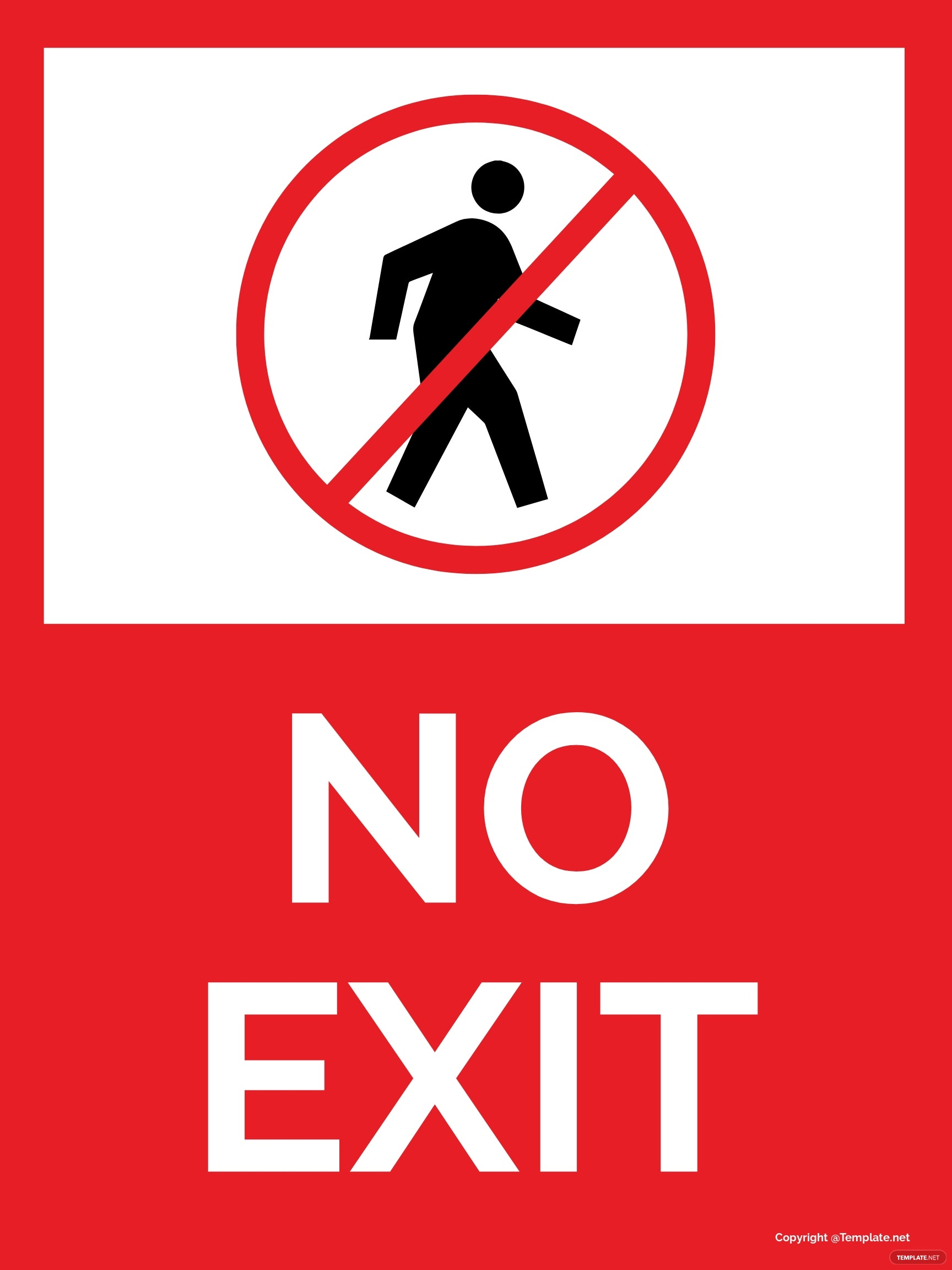 No Exit Sign Template
