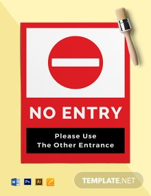 Free No Entry Sign Template