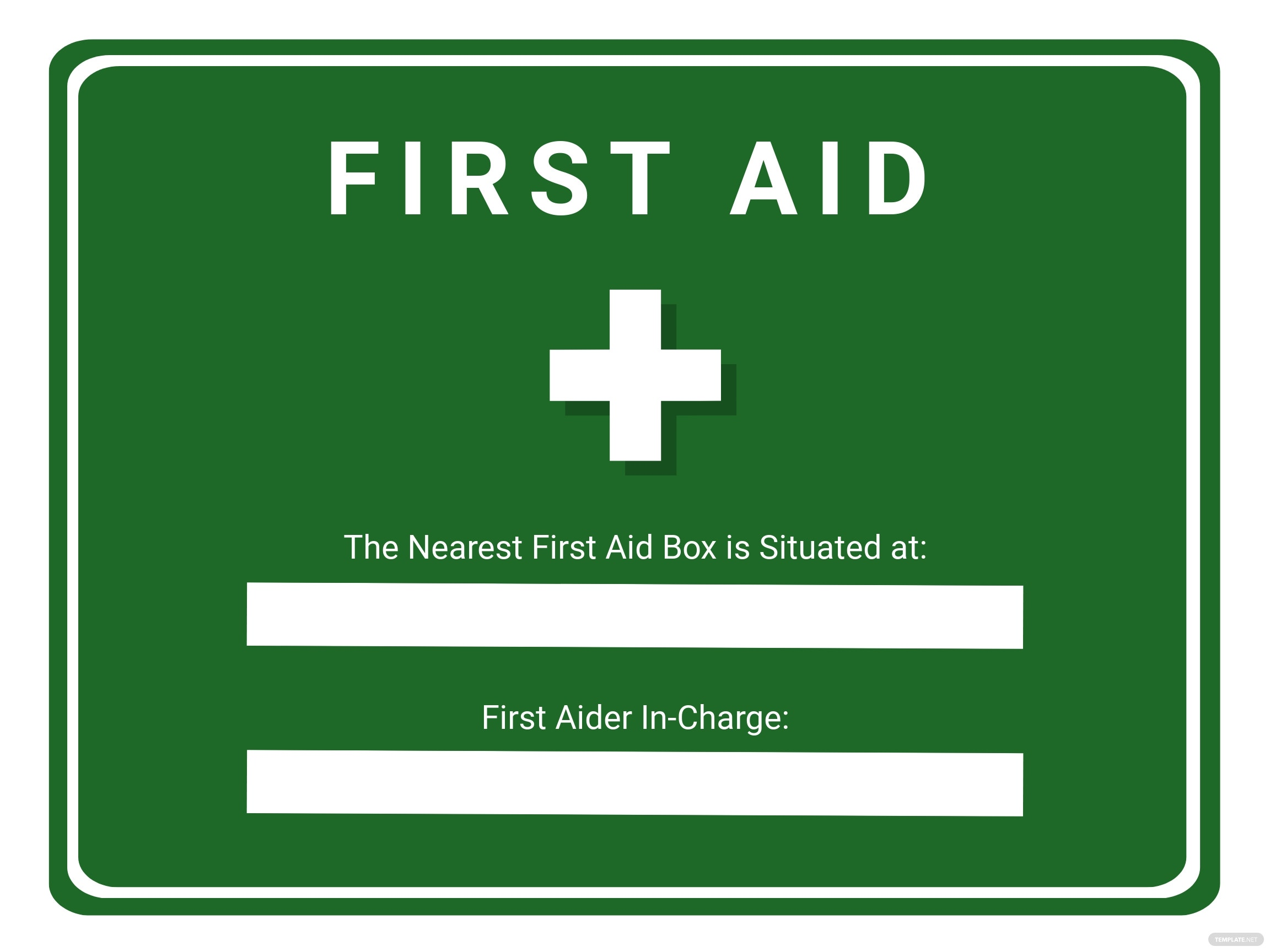 First Aid Sign Template.jpe