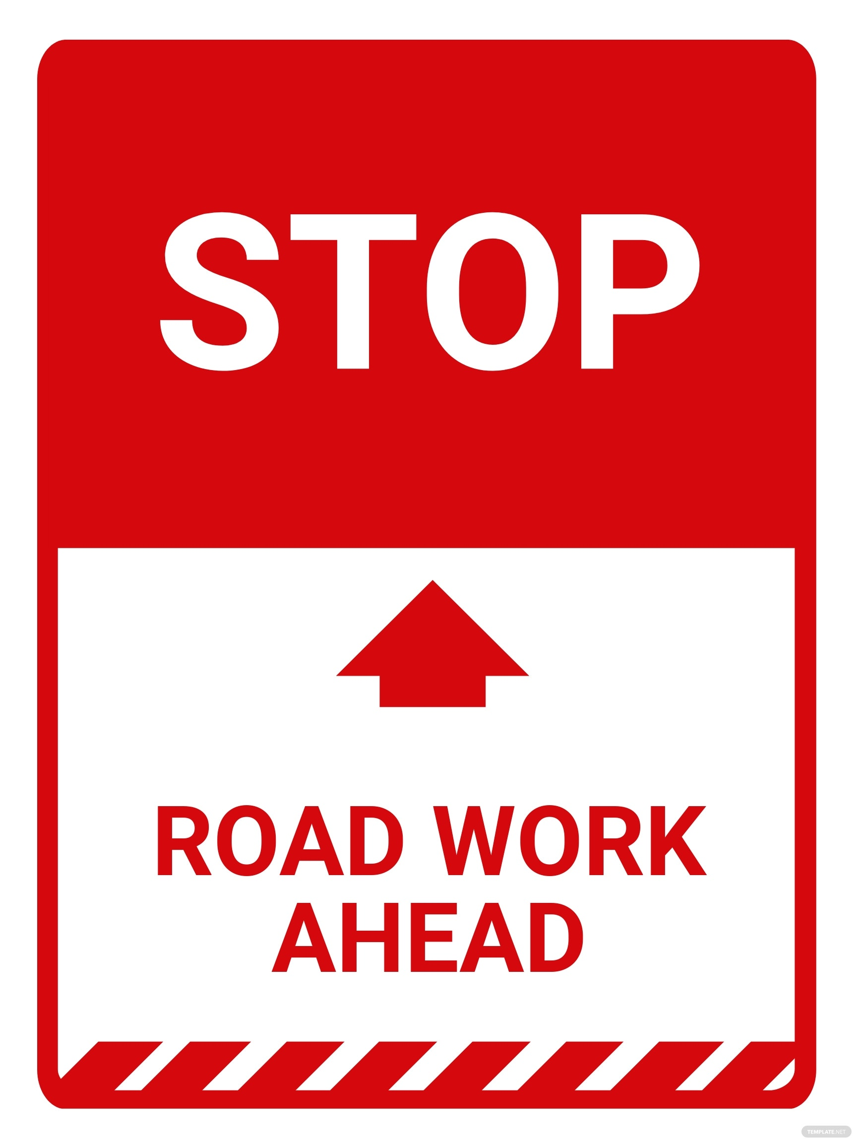 Construction Ahead Sign Template