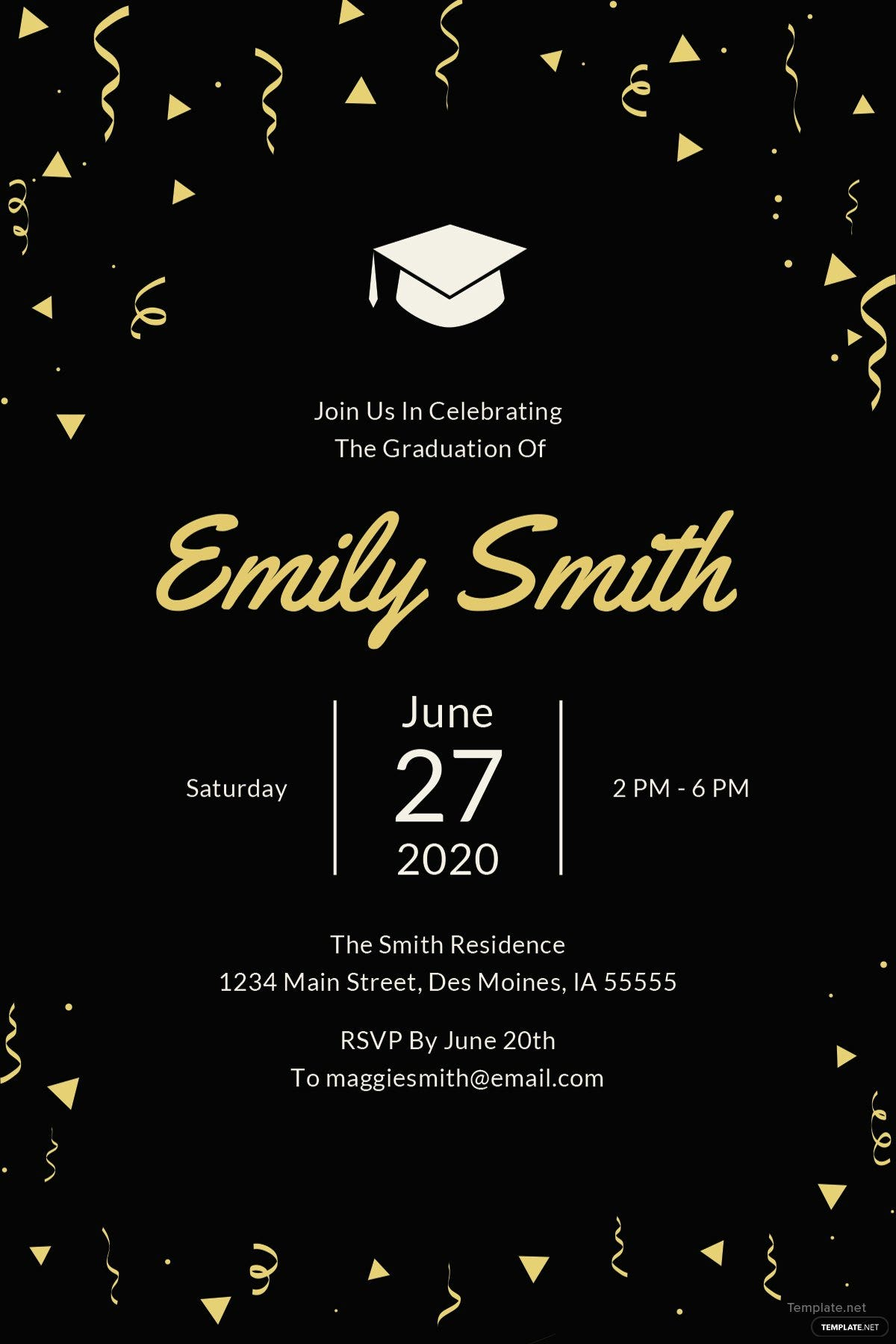 Free graduation invitation template in microsoft word microsoft graduation invitation template stopboris Choice Image