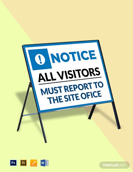 All Visitors Report Site Office Sign Template