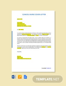 Free Clinical Nurse Cover Letter Template