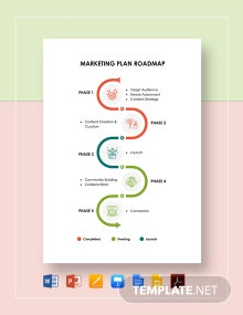 Marketing Plan Roadmap Template