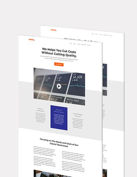 Software Company Website Format