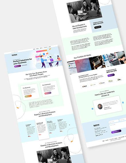 Software Agency Website Format