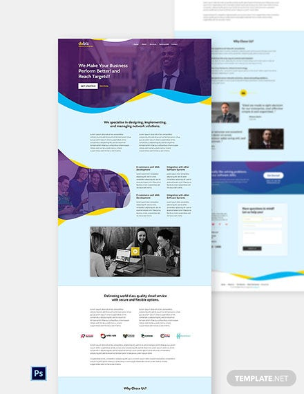 Free Saas Company Website Template