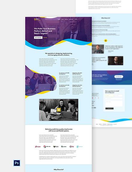 Free Saas Company Website Template