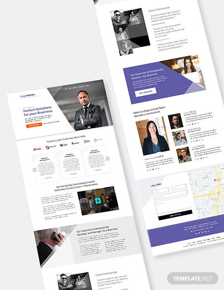 IT Startup Company Website Format