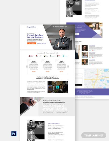 Free IT Startup Company Website Template