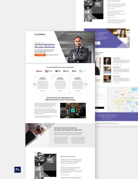 IT Startup Company Website
