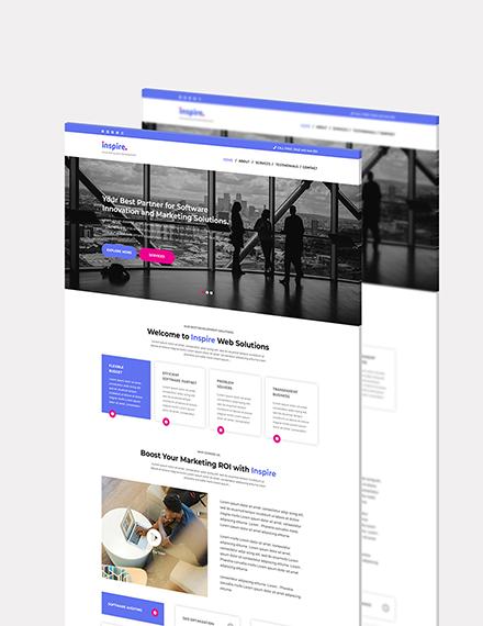 IT Company Website Format