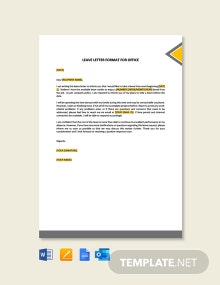 Free Leave Letter Format for Office