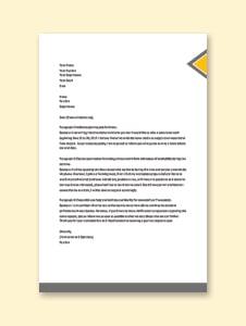 Leave Letter Format for Office