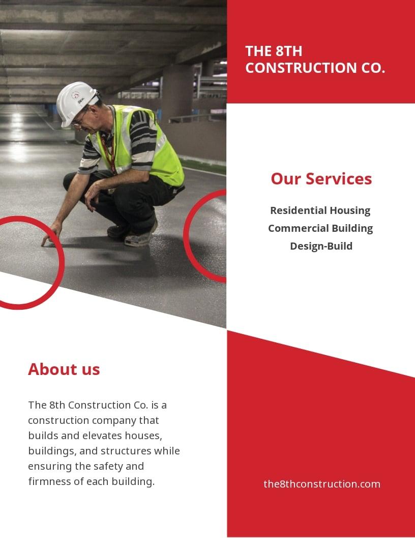 Construction Promotion Leaflet Template