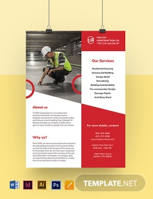 Construction Promotion Leaflet Template