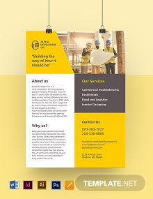 Construction Advertising Leaflet Template