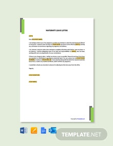 Free Maternity Leave Letter Template