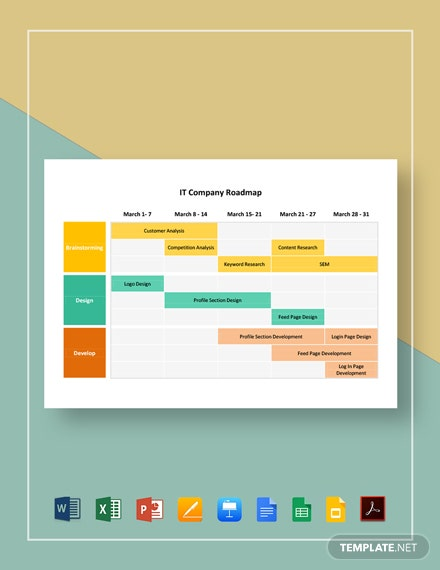 IT Company Roadmap Template