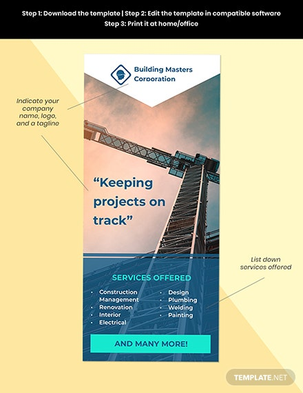 Industrial  Commercial construction Editable