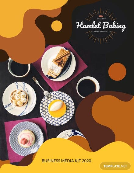 Baking Business Media Kit Template