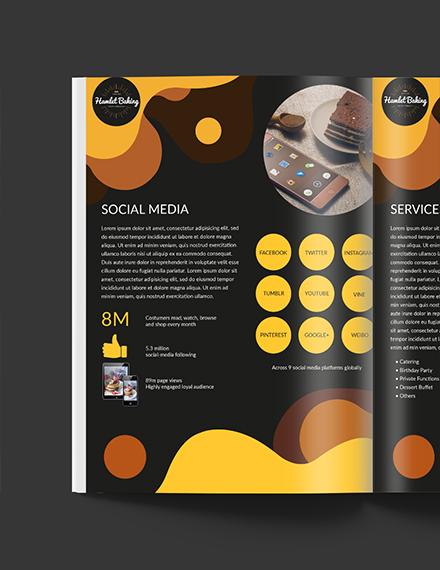 Editable Baking Business Media Kit Template