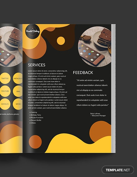 Downloadable Baking Business Media Kit Template