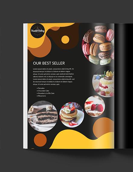Printable Baking Business Media Kit Template