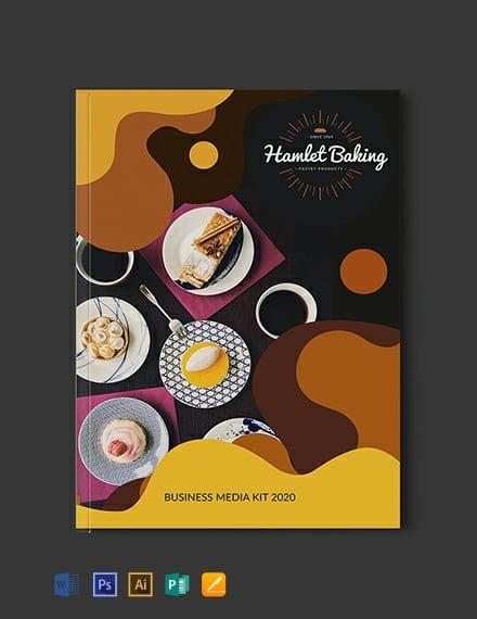Free Baking Business Media Kit Template