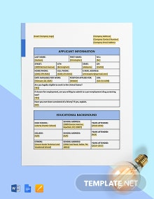 Construction Application Form Template