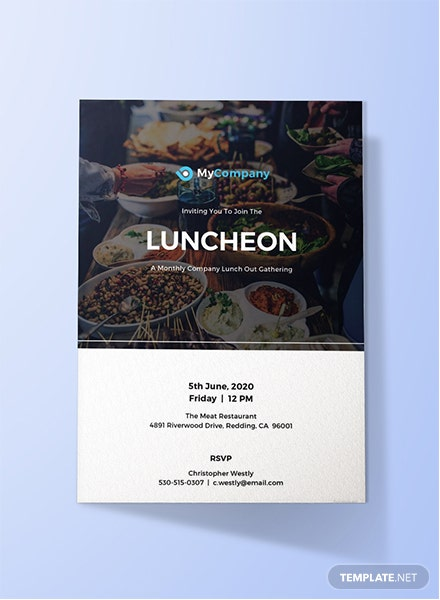 Free Luncheon Invitation Template