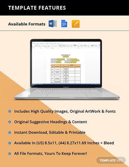 Material Submittal Form Instruction