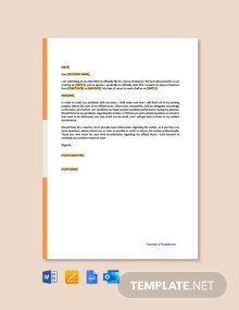 Free Official Leave Letter Template