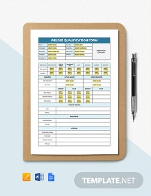 Welder Qualification Form Template