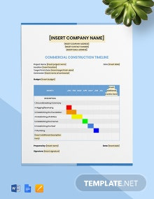 Commercial Construction Timeline Template