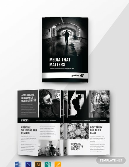 Free Simple Advertising Catalog Template