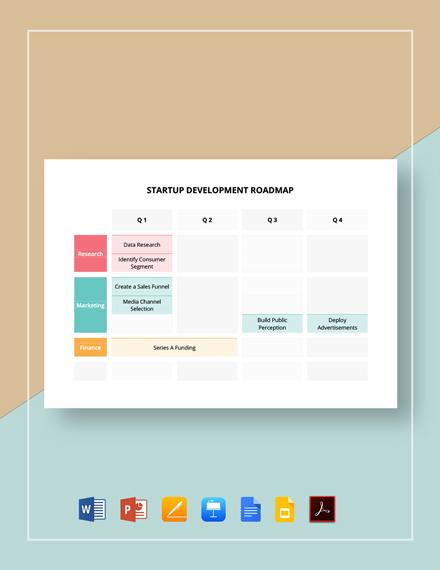 Startup Development Roadmap Template